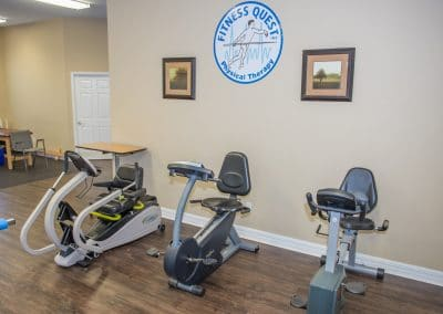 nustep and recumbent bikes in physical therapy area