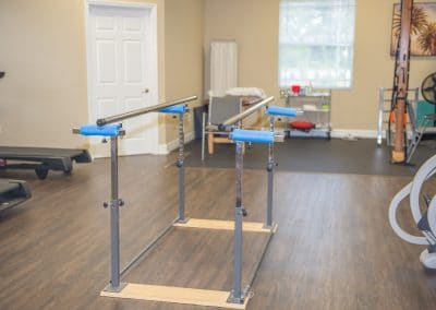 Platform parallel bars for physical therapy balance training