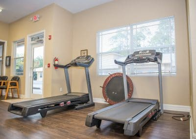 Treadmills in physical therapy clinic