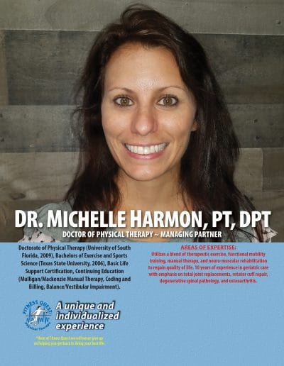 Female headshot of physical therapist at physical therapy clinic in Venice Florida