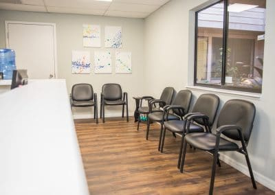 Physical therapy clinic in Bradenton Florida reception area
