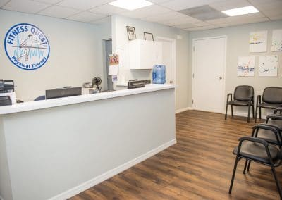 Physical Therapy clinic in Bradenton waiting room with guest chairs
