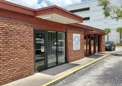 Outside building and parking lot of Physical Therapy clinic located at 1705 Osprey Avenue Sarasota Florida