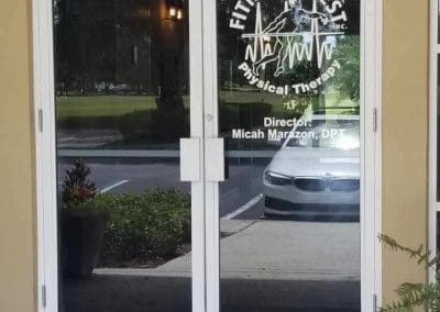 Physical Therapy office Fort Myers Florida front doors to building