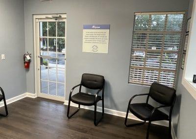 waiting room with chairs in outpatient physical therapy clinic lakewood ranch florida